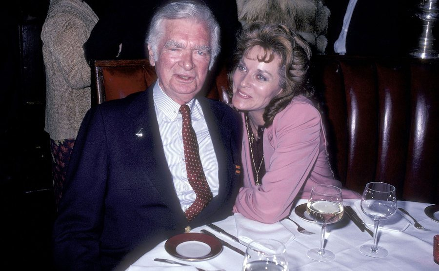 Buddy Ebsen and Lee Meriwether attend the