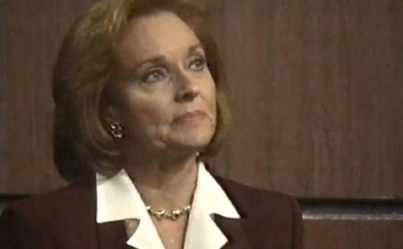 Lee, as Ruth Martin, in a still from All My Children.