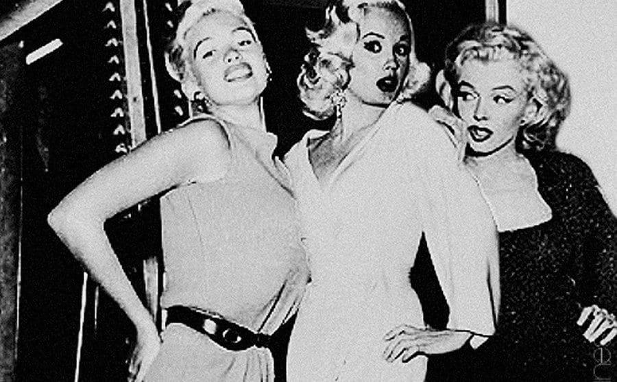 Van Doren and Marilyn Monroe take a photo together.