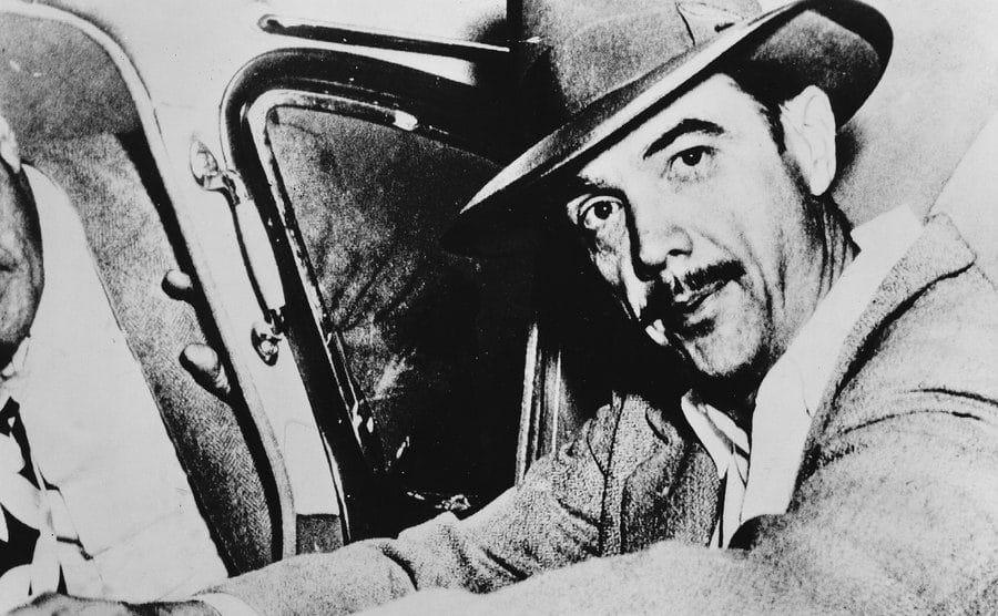 A portrait of Howard Hughes.