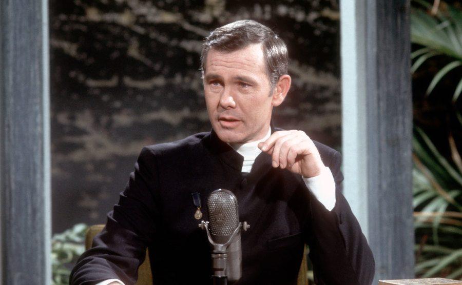 A photo of Johnny Carson.