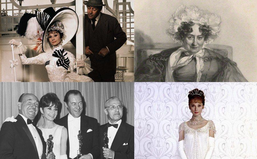 Audrey Hepburn and Rex Harrison / Sabrina Sidney / Jack L. Warner, Audrey Hepburn, Rex Harrison, and George Cukor / Audrey Hepburn