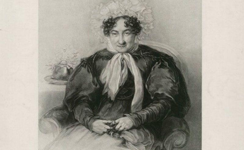 A drawing of Sabrina Sidney.