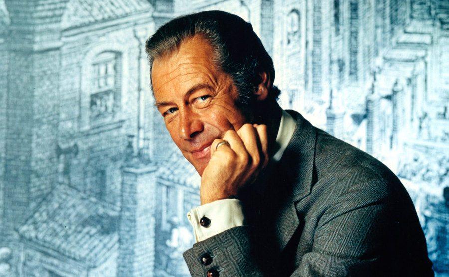 Rex Harrison in publicity portrait for the film 'My Fair Lady.'