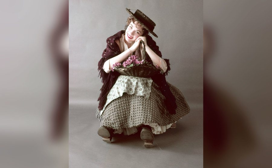 Julie Andrews plays Eliza Doolittle in the stage musical 'My Fair Lady.'