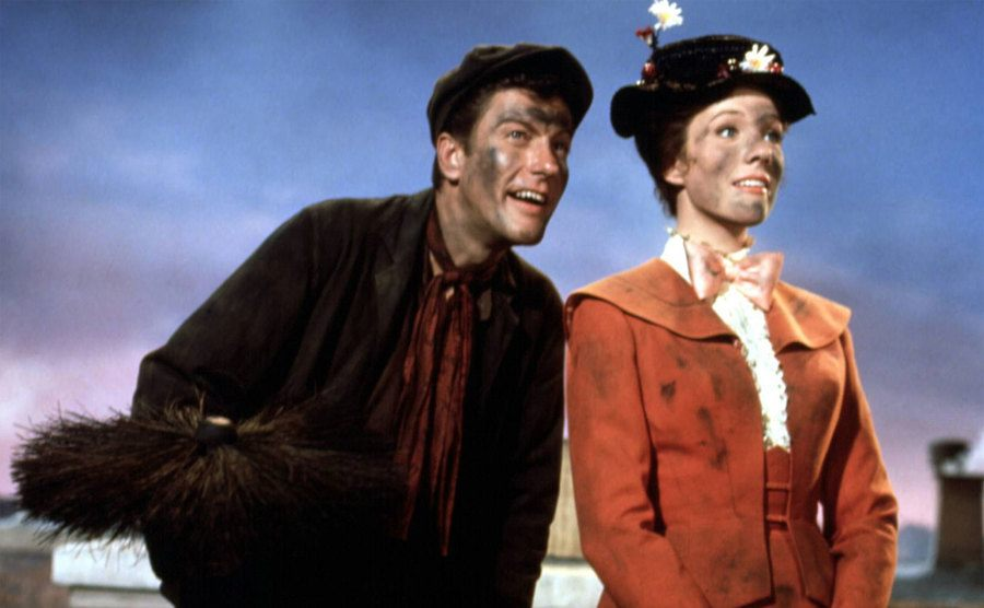 Julie Andrews and Dick Van Dyke in a scene from the movie