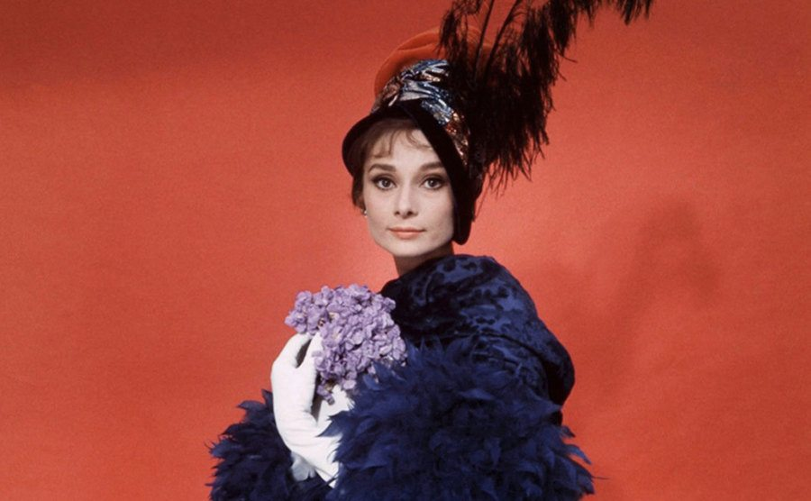 Audrey Hepburn poses for a portrait as Eliza Doolittle.