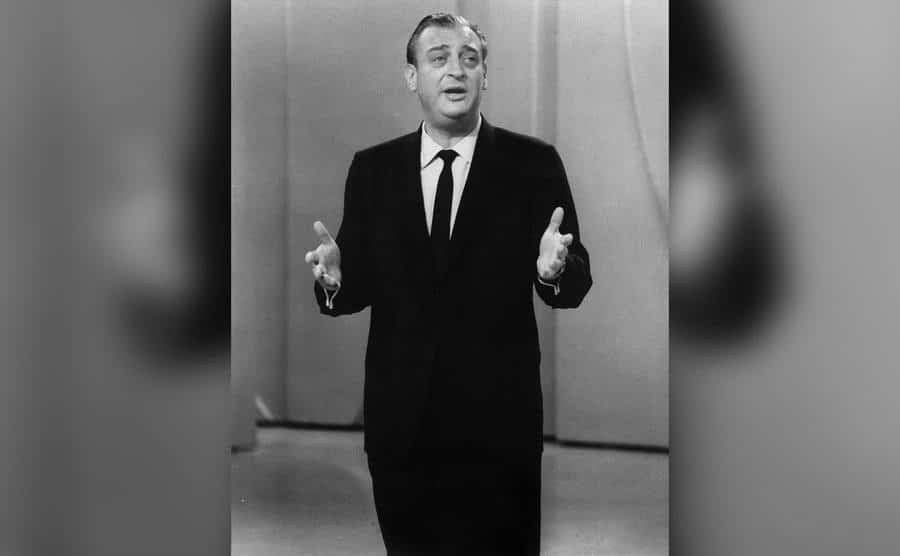 Rodney Dangerfield performs on a television show.
