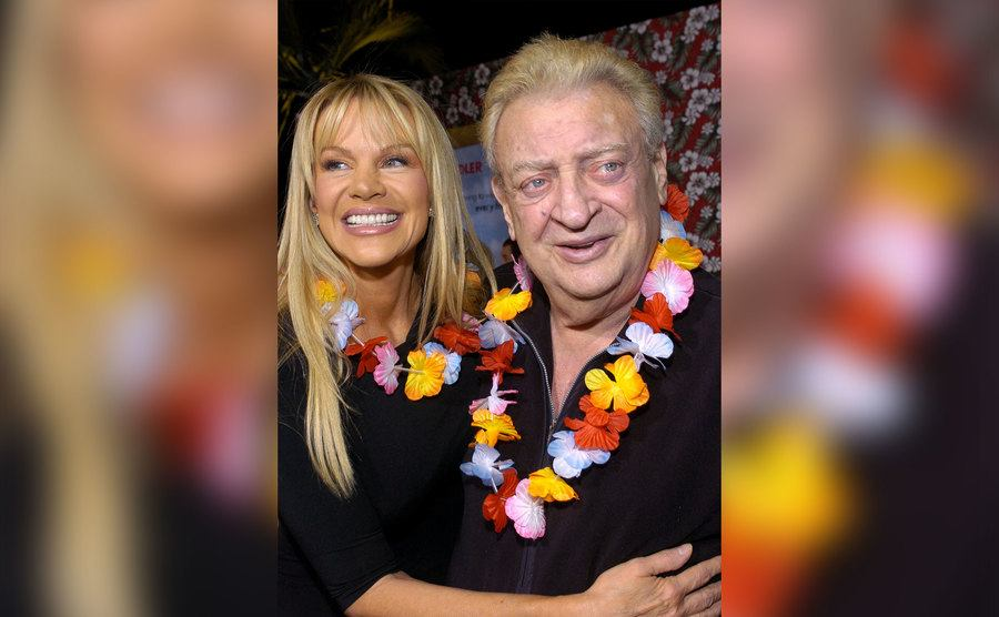 Rodney Dangerfield and wife Joan Child during