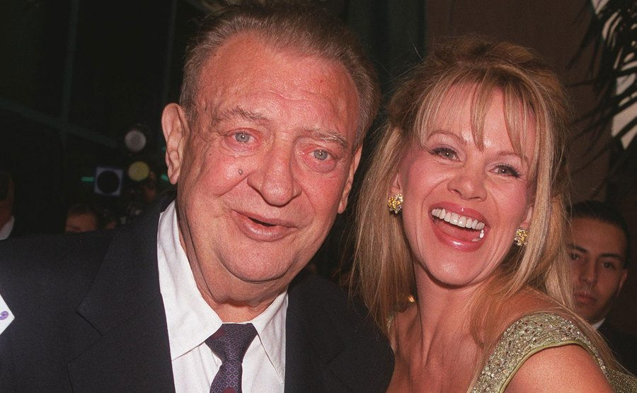 Rodney Dangerfield with his wife, Joan.