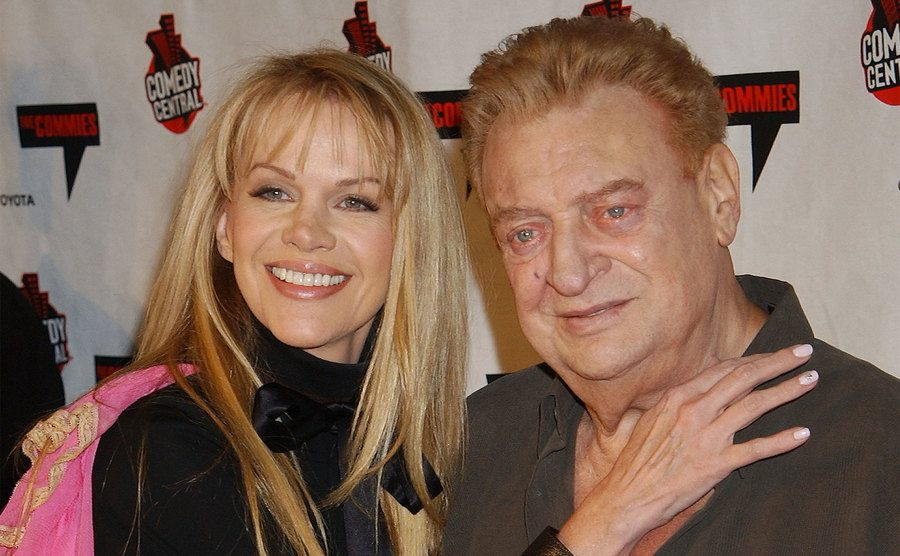 Joan Child and Rodney Dangerfield during Comedy Central's First Annual Commie Awards.