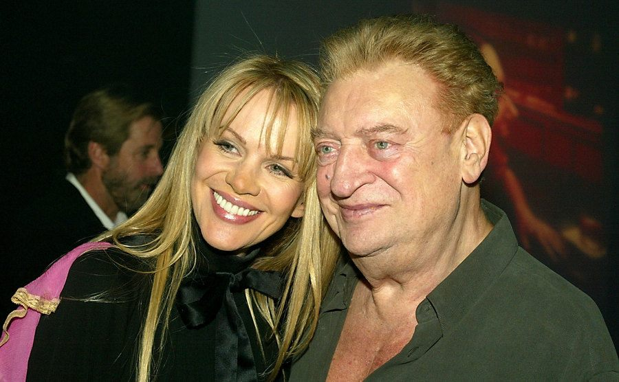 Rodney Dangerfield with his wife Joan Child during the after-party.