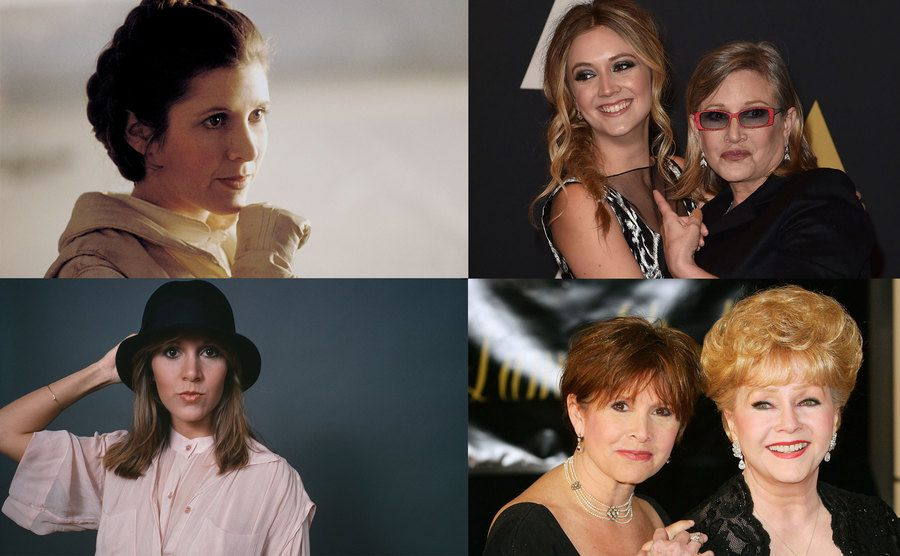 Carrie Fisher / Billie Lourd and Carrie Fisher / Carrie Fisher / Carrie Fisher and Debbie Reynolds