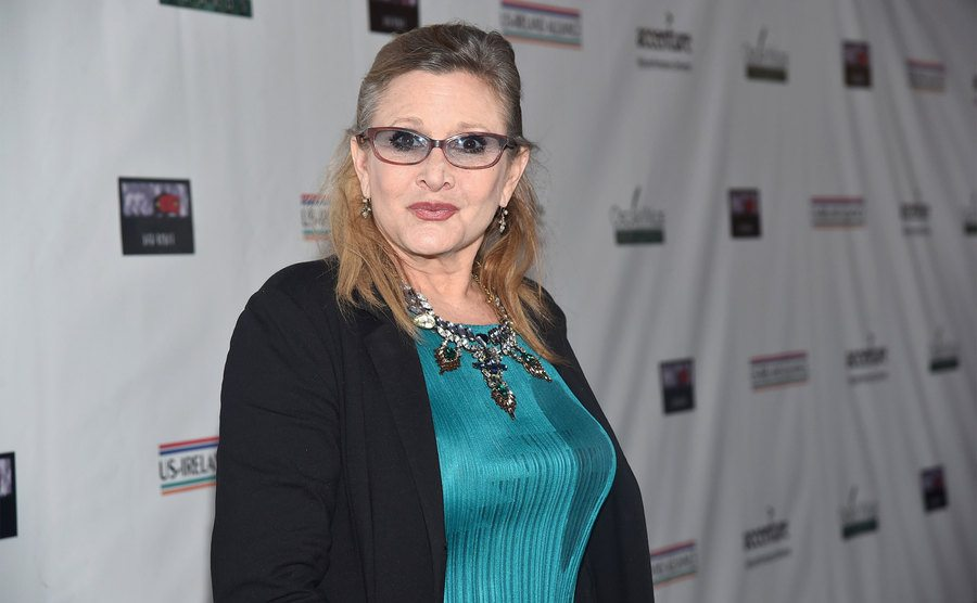 Carrie Fisher attends an event.